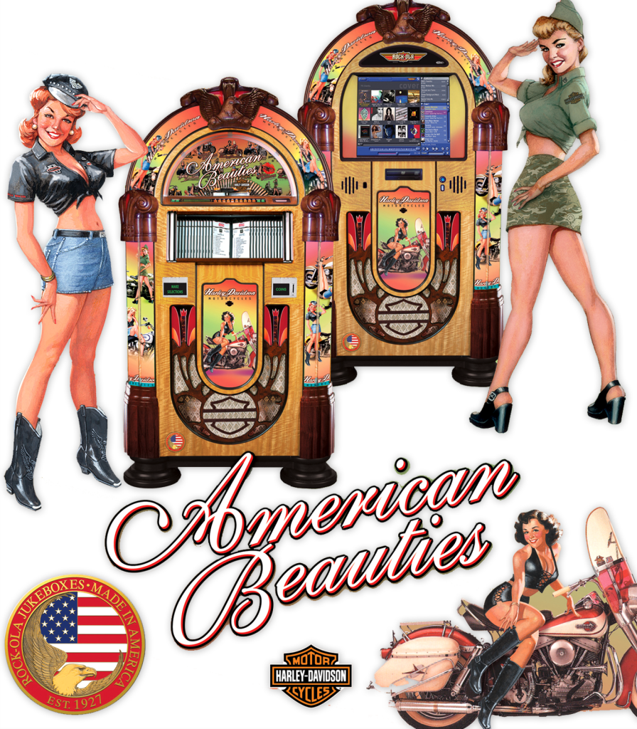 Rock-Ola Jukebox American Beauties Harley Davidson Music Center