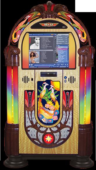 Rock-Ola Jukebox PEACOCK Music Center Touchscreen